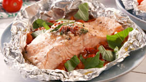 Tuscan butter salmon foil packs