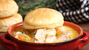 Crisp-cup chicken pot pie