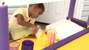 3-year-old sells lemonade to help babies in need