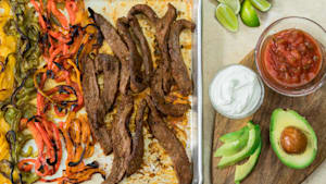 Sheet Pan Dinners: Steak Fajitas