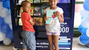 These vending machines give out unlimited books to children