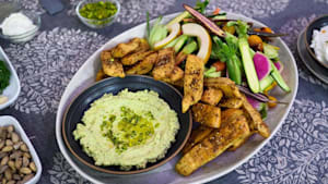 Middle Eastern-inspired dinner: Chicken shawarma