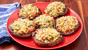 Stuffed portobello mushrooms are an instant hit