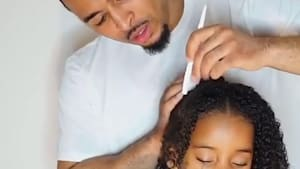 Daddy-daughter duo's cute hairstyling tutorials