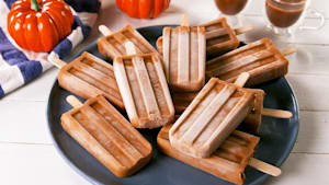 Pumpkin spice latte pops