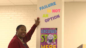 Woman shares journey from janitor to principal