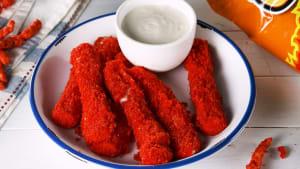 Flamin' Hot Cheetos mozzarella sticks
