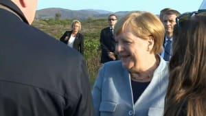 Merkel gutgelaunt in Island