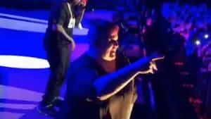 Sign language interpreter steals show at concert