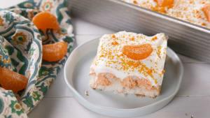 Creamsicle poke cake hits all the sweet spots