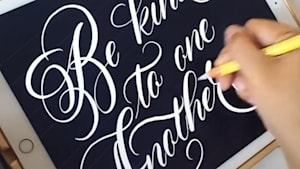 Watch this artist combine tech and calligraphy