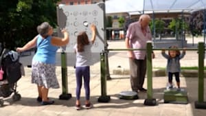 Parks have games designed for older adults