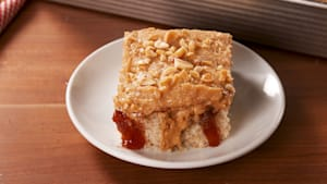 PB&J poke cake is SO nostalgic