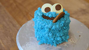 This Cookie Monster cake is a huge pile of cookies
