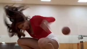 Girl gets hit by ball while dancing