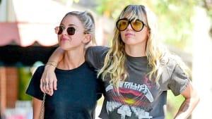 Miley Cyrus & Kaitlynn Carter show PDA again