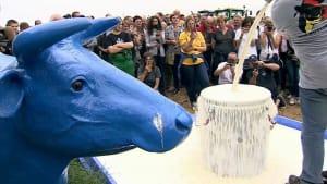 Landwirte protestieren mit 600 Traktoren gegen Milchpreise