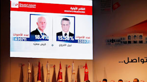 Außenseiter Kais Saïed und Nabil Karoui gehen in Stichwahl um Tunesiens Präsidentenamt