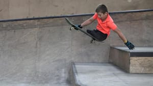 Legless kid dreams of being Olympic skateboarder