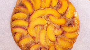 How to make peach-ginger upside down cake