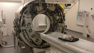 Rare look at the inside of a CT scanner