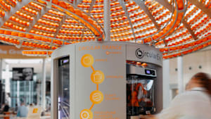 Machine turns orange peels into disposable cups