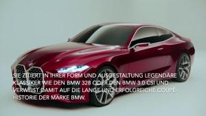 Das BMW Concept 4 - das neue Gesicht der 4er-Reihe