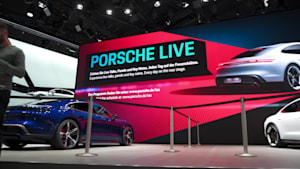 A new Porsche concept stand during the the IAA 2019