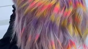 Hair colorist uses this to create psychedelic hair