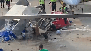 Truck goes berserk at Chicago O'Hare Airport