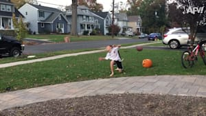 Pumpkin smashing
