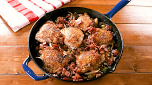 Bacon harvest chicken skillet is perfect fall meal
