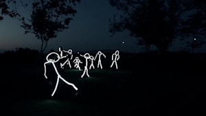 Stand out with an LED stick figure costume