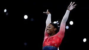 Simone Biles becomes most decorated female gymnast