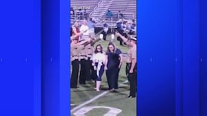 Homecoming kids walk barefoot for touching reason