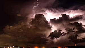 Spectacular time-lapse of intense lightning storm