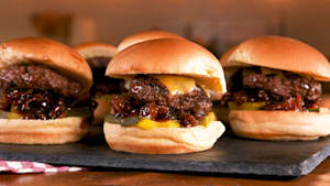 We could eat a tray of these bacon jam sliders