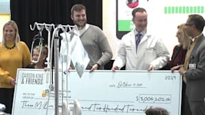 Football fan donates $3 million to hospital