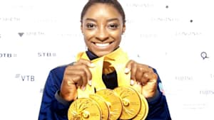 Simone Biles is the most decorated gymnast ever