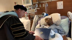 Man receives degree hours before dying of cancer