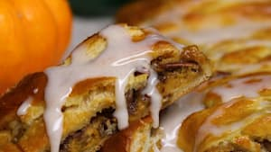 Pumpkin pecan braid tastes just like cinnamon buns