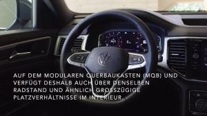 Der Volkswagen Atlas Cross Sport mit viel Platz im Innenraum