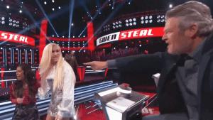Gwen Stefani and Blake Shelton battle it out