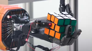 One-handed robot learns how to solve Rubik's cube