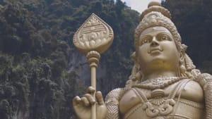 Die gigantische Statue der Batu-Höhlen