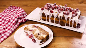 Cranberry cheesecake banana bread