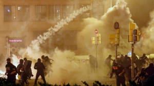 Hunderttausende auf Barcelonas Strassen