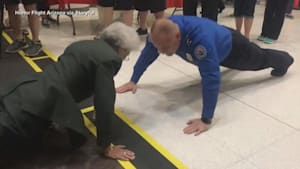 Former Army nurse, 84, proves she is still tough