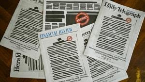 Australien sieht schwarz: Zeitungen zensieren Titelseiten