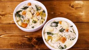 Slow-cooker creamy gnocchi soup